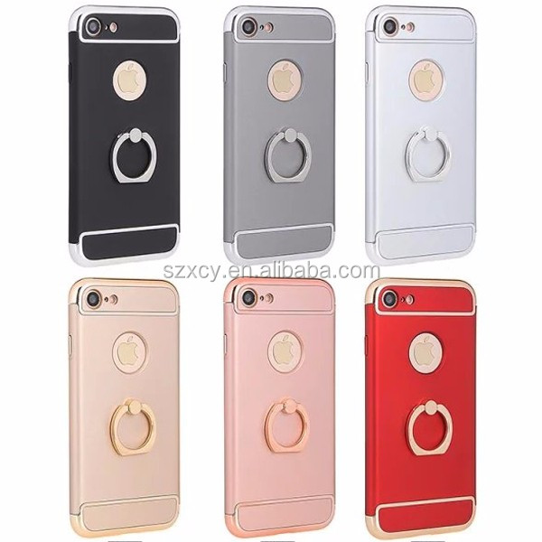 Wholesale 99 Cent Store Items Electroplating Golden Ring Holder Cell Phone Case For Iphone 7