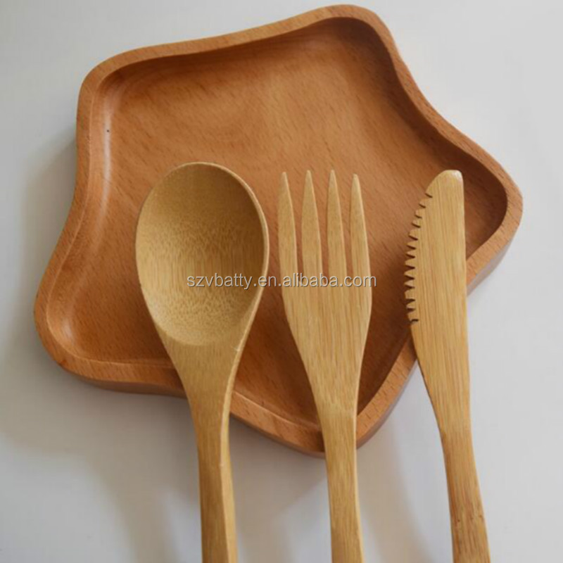 Bamboo Cutlery Set with Case  Bamboo travel utensils Travel Cutlery Set Portable Camping Utensils