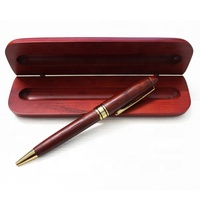 best gift set High quality engraving/printing custom logo promotional wooden ball point pen box set