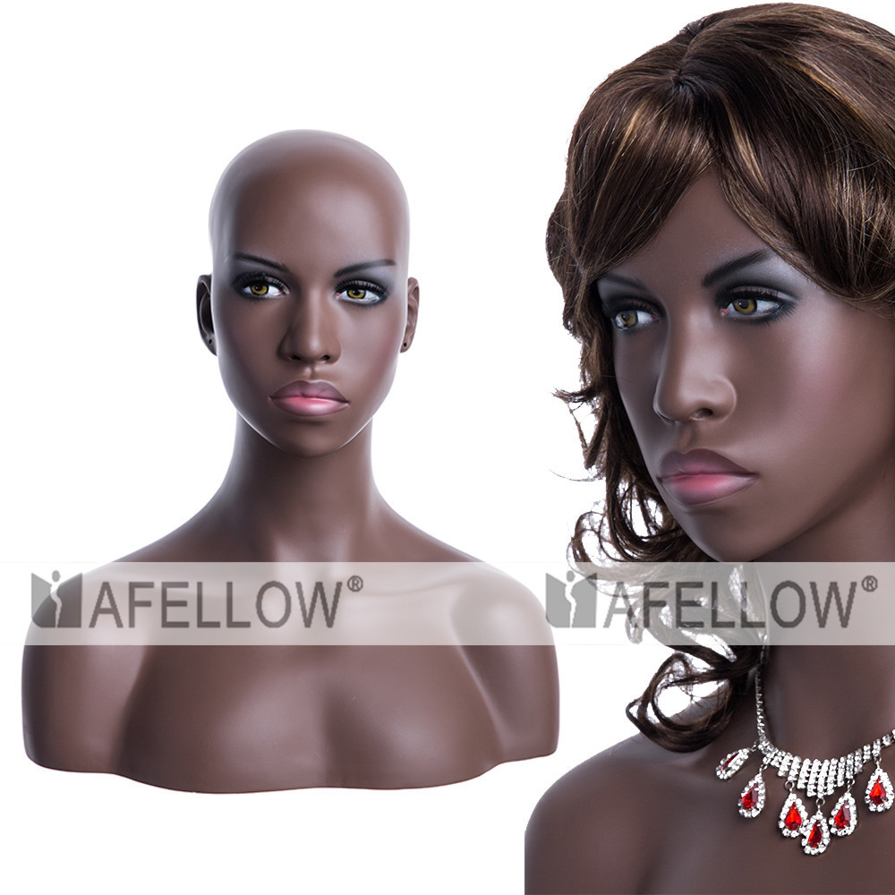 New design black girl head Mannequin head for wigs display