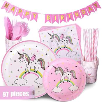72pcs Unicorn Party Supplies For Birthday Party Unicorn Decoration