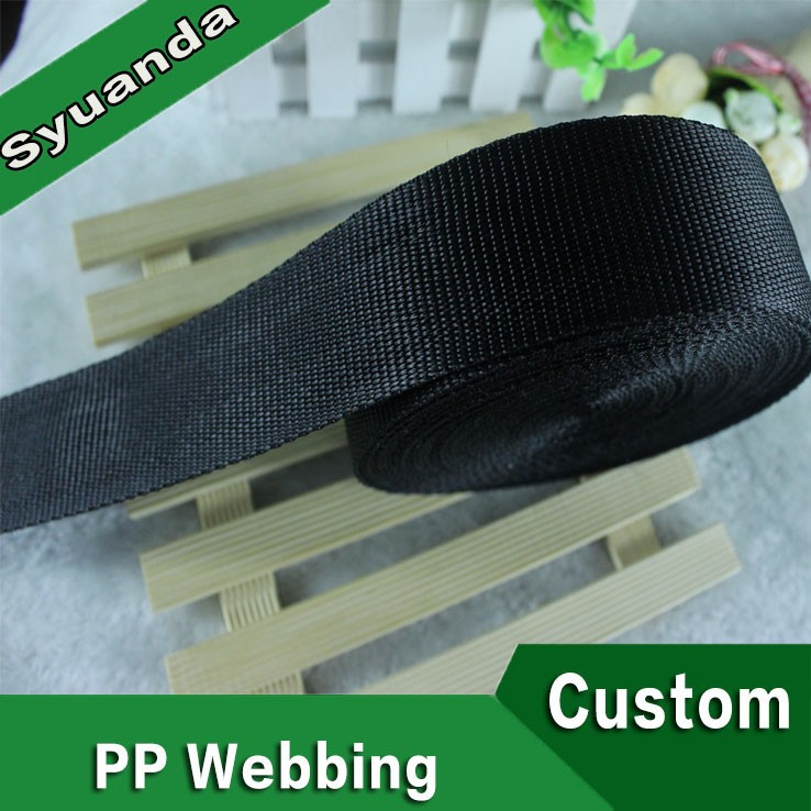 Factory Price Black Polypropylene Tape PP Webbing