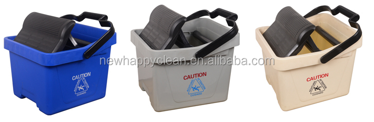 Commerical high quality plastic side press 32L 36L mop wringer bucket trolley