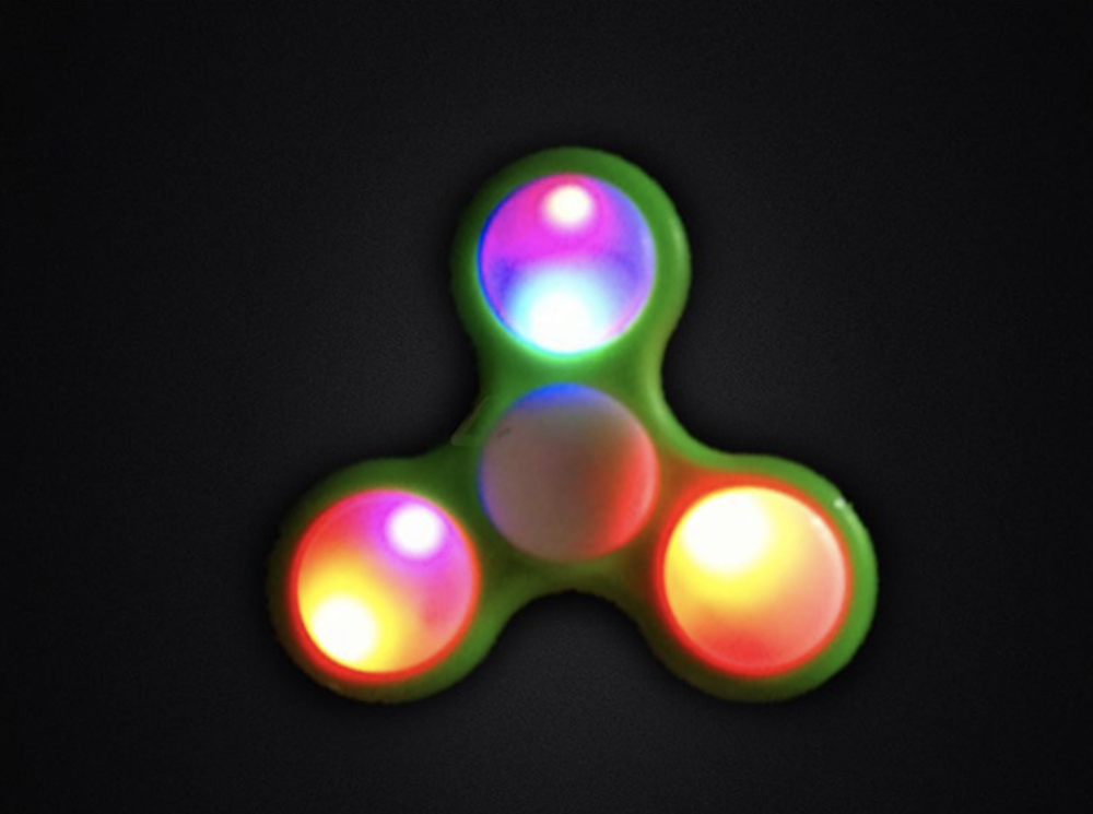 Hot Selling OEM LED Light Hand Spinner And Fidget Spinner Toy