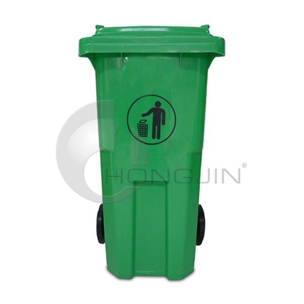 Green Plastic 120L Wheelie Waste Bins