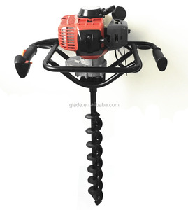 mini one man gasoline tree digging planting post ground hole digger manual earth auger drilling machine with drill bits