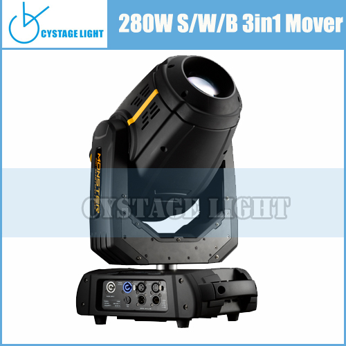 Stage Lighting Factory Good Profile 10R 280W Beam Spot Wash 3 in 1 Moving Light With Two Rotating Prisms