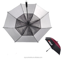Double Ribs Windproof Golf Umbrella popular parasol Top-Rated Supplier