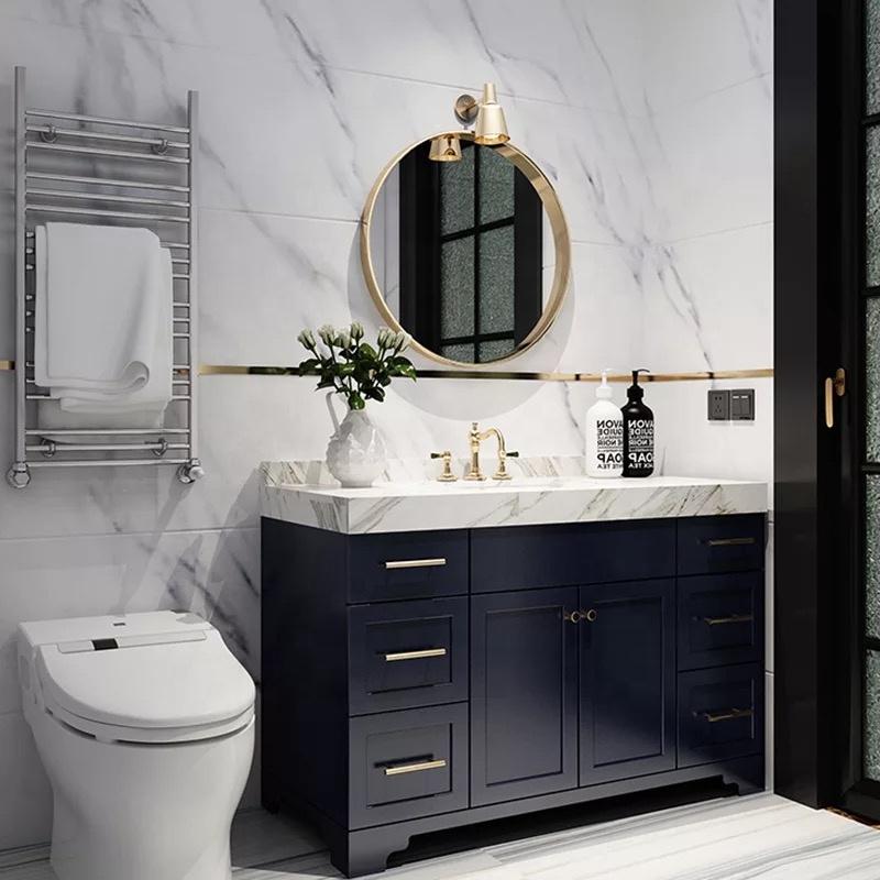 Christmas Navy Blue Bath Vanity