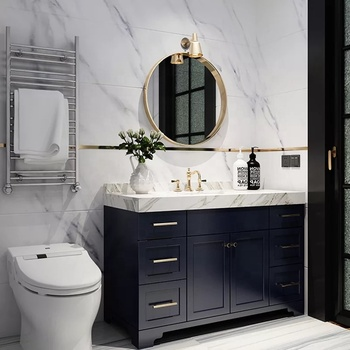 christmas sale Navy blue bath vanity