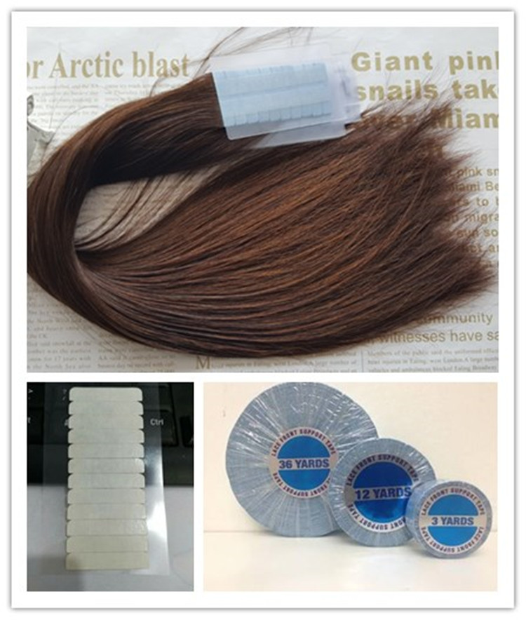 Cheap Russian Invisible adhesive tape hair extension Double drawn Wholesale Blonde Human double side Remy tape in hair extension