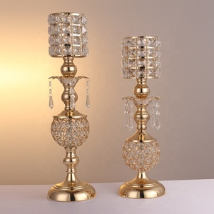 crystal pineapple shaped candlestick for wedding table centerpieces
