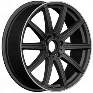 19 inch black car alloy wheels machine lip 5 holes aluminium rims