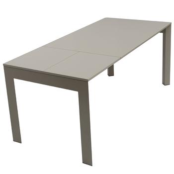 Moderne Eettafel Hout.Moderne Design Hoogglans Grijs Hout Board Metalen Been Extended