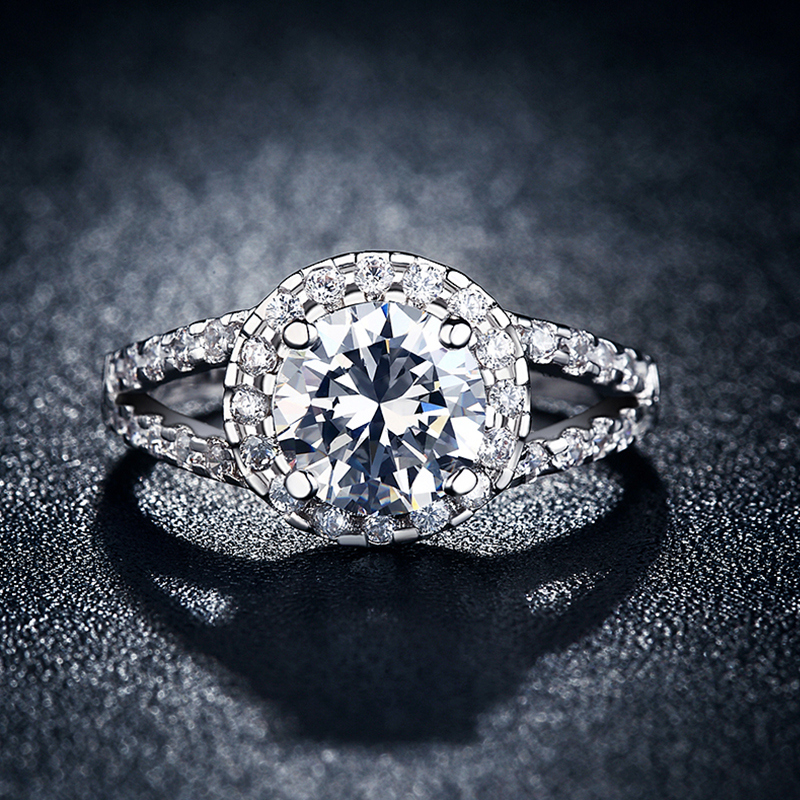 Beautiful Diamond Engagement Rings For Women: Big Cz Diamond Beautiful Round Rings For Women Wedding
