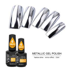 soak off uv metallic gel polish nail