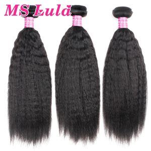 Indian hair bundles Yaki straight shedding free and tangle free natural restyled with human virgin hair