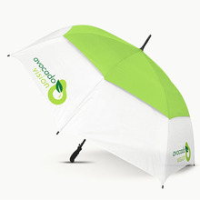 Dupla camada Windproof Golf guarda-chuva