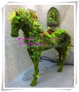 artificial green grass horse / fake elephant /cow / mickey&minne for garden decoration