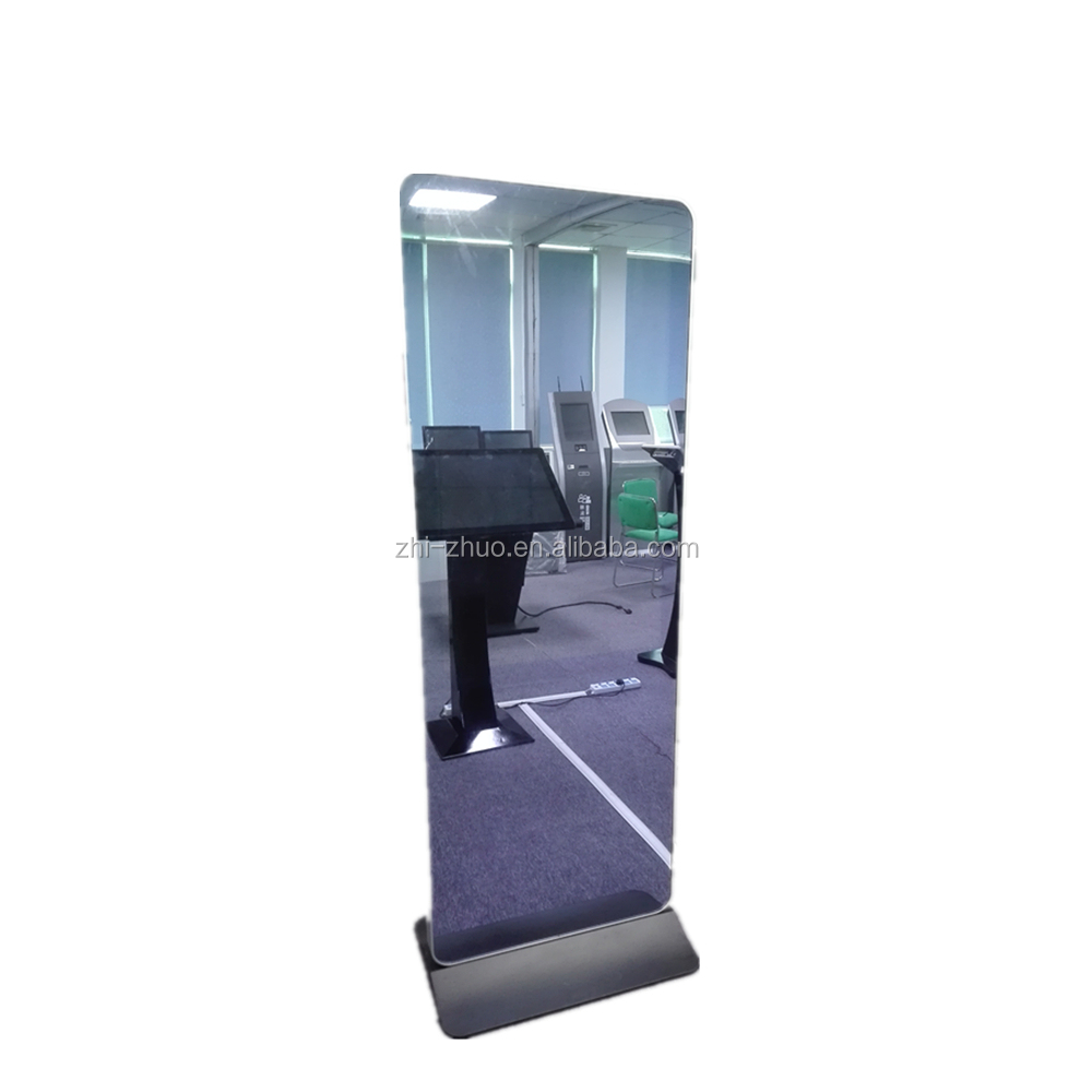 43'' 10 point capacitive floor standing magic mirror wall mounting screen kiosk