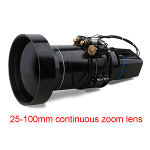 Long range continuous zoom infrared imaging thermal camera module