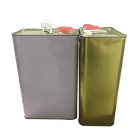 Engine oil 4L square tin can motor oil tin can with plastic cap lid for oil packaging