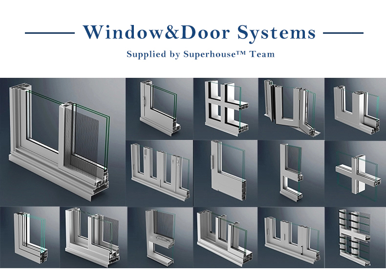 New design factory prices commercial metal aluminium windows and doors