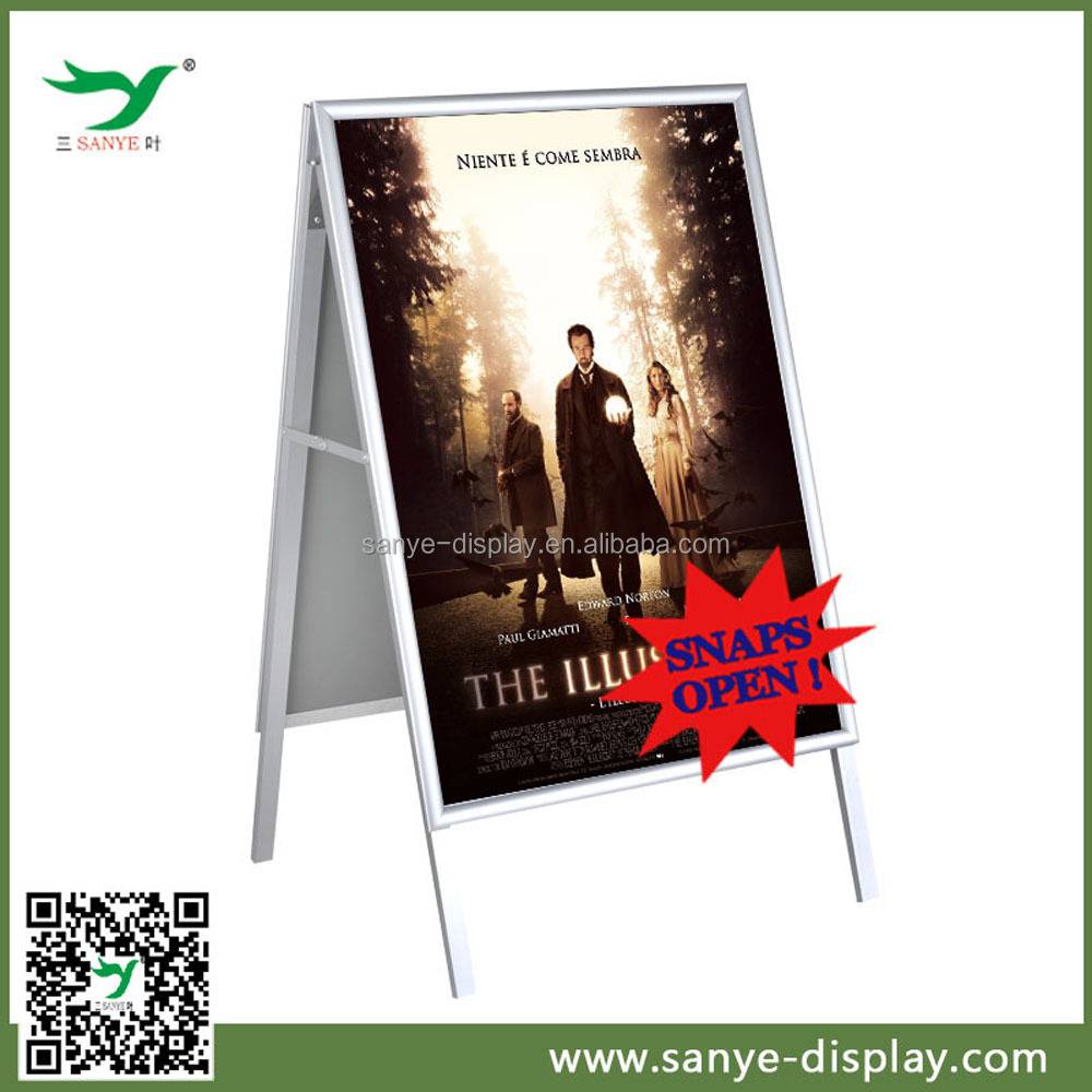 high quality double side outdoor free standing poster