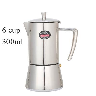 4cup/6cup кофейник из нержавеющей стали 304 Moka Pot бытовой ручной Дырокол Pot Filter Cup Coffee Set Filter Pot(Китай)