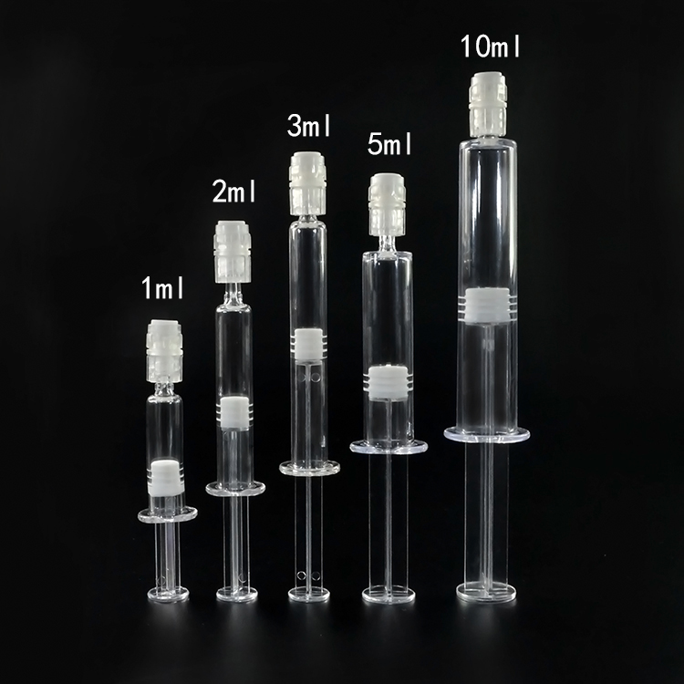 Hot sale Professional Manufacturer Luer Lock 1ml 2ml 3ml 5ml 10ml cosmetic plastic Safety Syringe for skin care