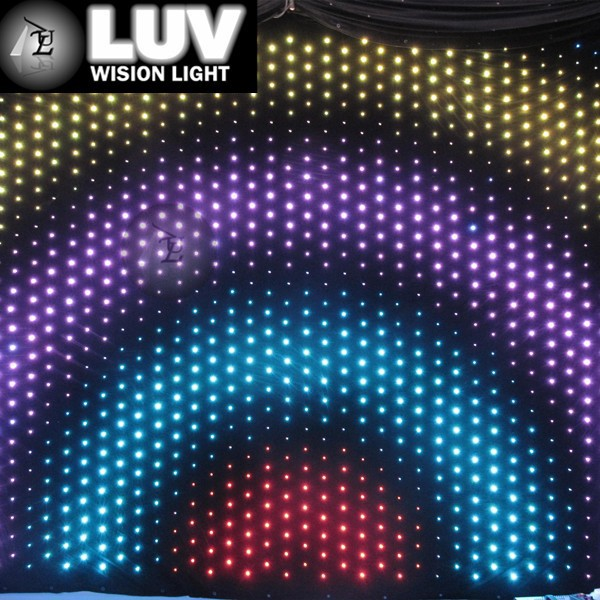 Led video curtain play Animation/ pixelflex led curtain price on sale