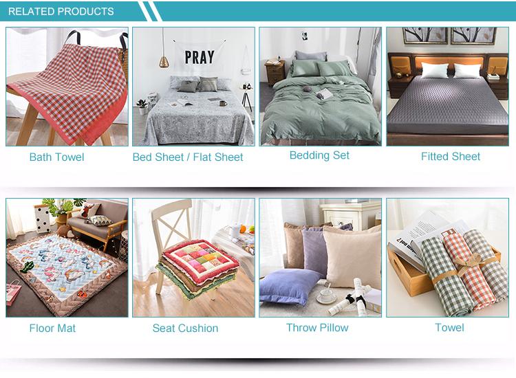 Fabrikant fluwelen zijde deken beddengoed set 100% katoen hotel laken
