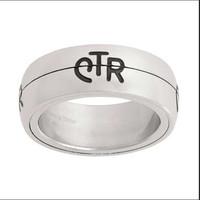 Yiwu Aceon Stainless steel split set fashion CTR ring