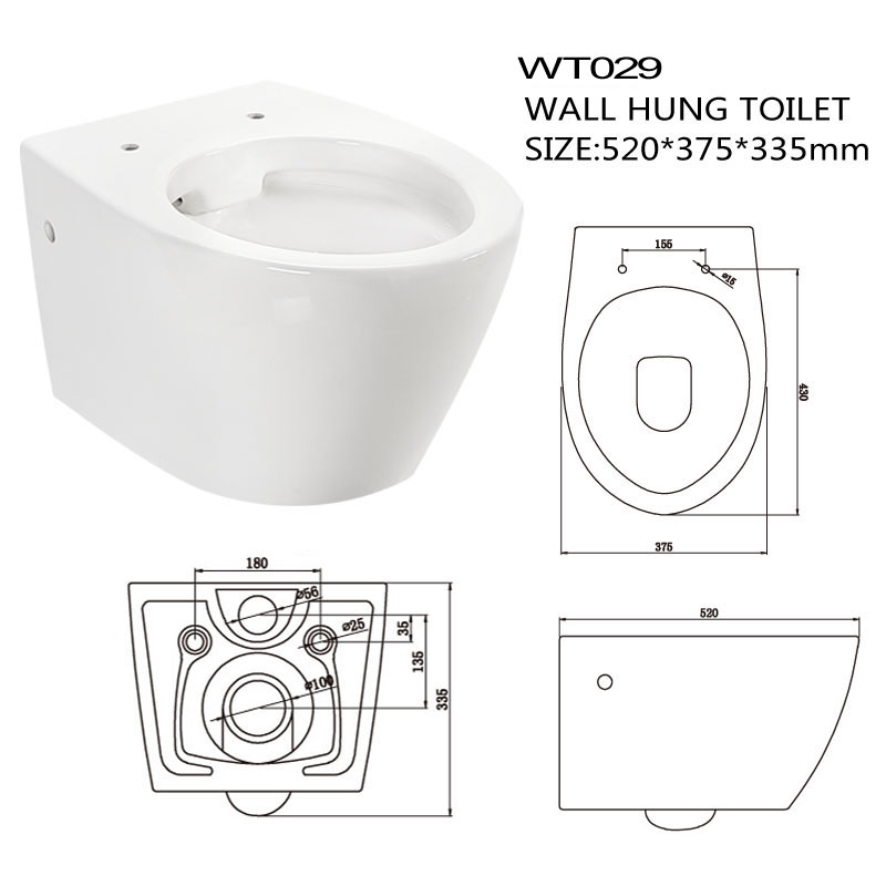 standard toilet dimensions from wall. New model western wall hung toilet standard size dimensions Model Western Wall Hung Toilet Standard Size Dimensions  Buy