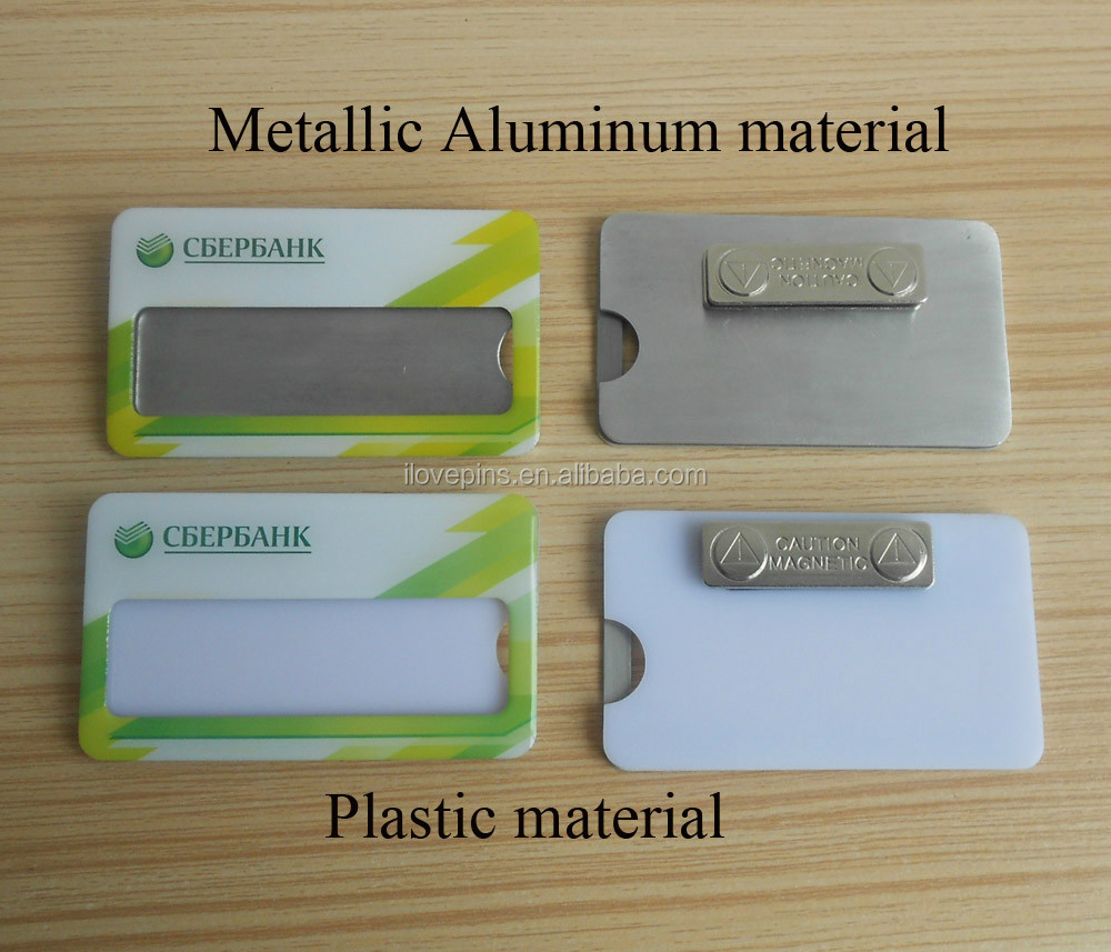 aluminum printed metal name plate name badge name plaque