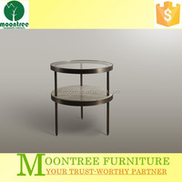 MST-1145 High End Glass Top Round Side Table