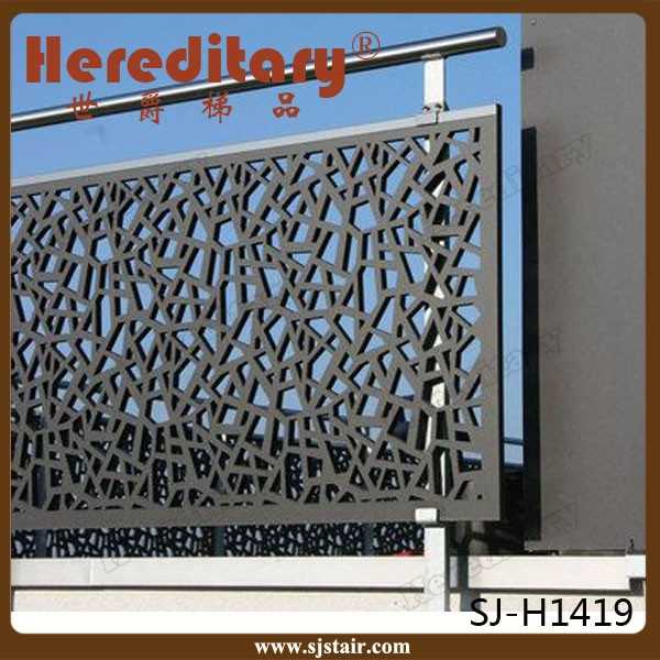 Wall mounting laser cutting aluminum panel for balcony for Balustrade aluminium exterieur