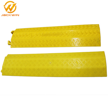 Yellow Plastic Cable Protection Covers Pvc Cable Cover