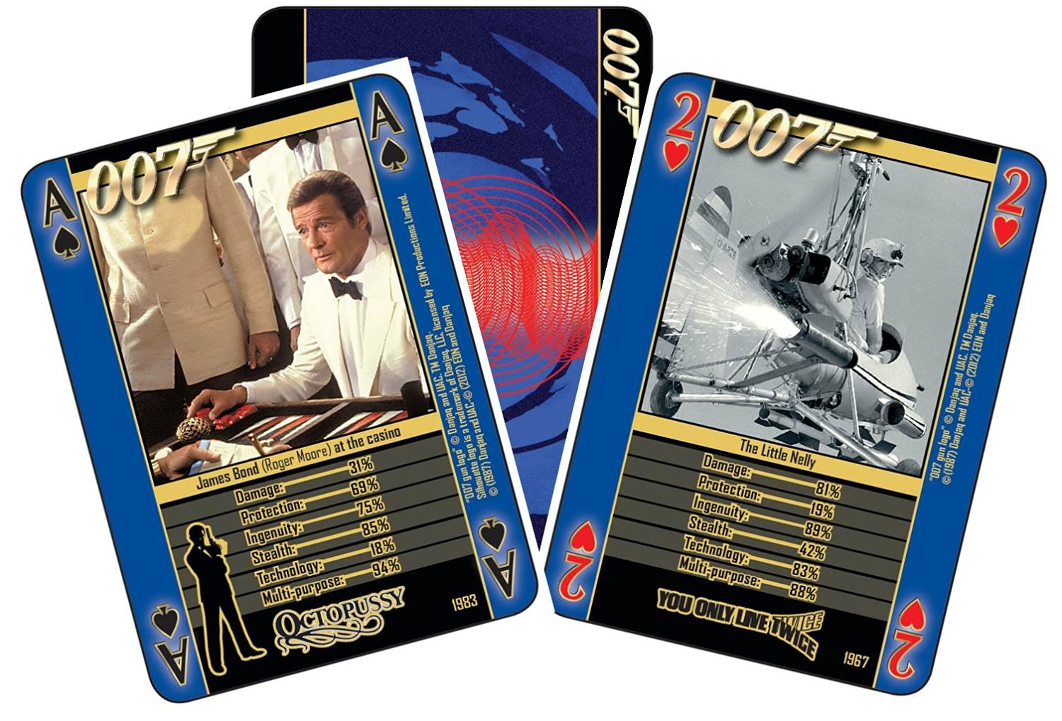 Cartamundi James Bond Guns and Gadgets 4-in-1 Playing Cards
