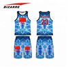 Kids basketball jersey and shorts sublimation design