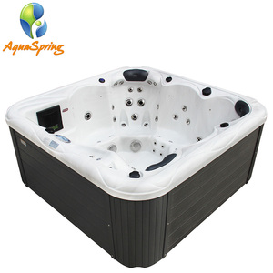 HL-6801S Silver White Marble 6 person hot tub