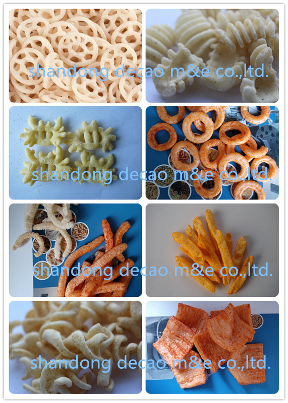 automatic stainless steel baked pellet snacks machine made in China