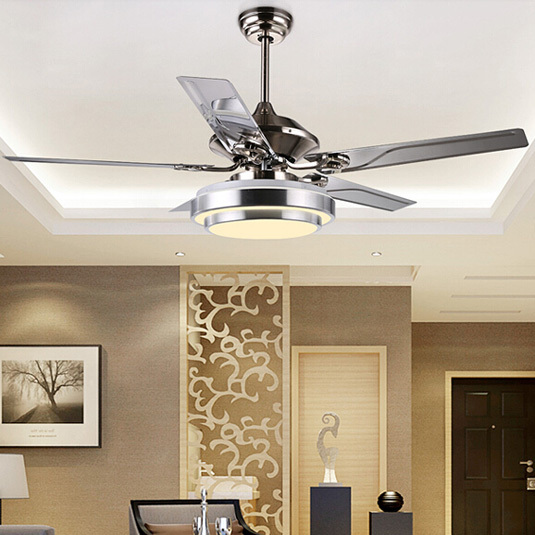 Ceiling Fans With Lights For Living Room: Modern Fan Lamp For Living Room, Led Fan Ceiling Lights