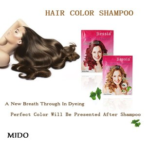 Long lasting color 30ml easy to use natural hair dye shampoo