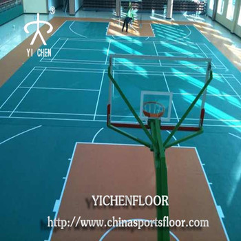 Yichen indoor basketball court coating sports floor gym for Buy indoor basketball court