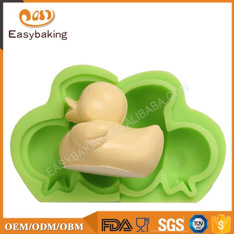 ES-0301 Little Duck Silicone Molds Fondant Mould for cake decorating