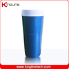 No leaking 400ml plastic double wall coffee cup with lid (KL-5010)