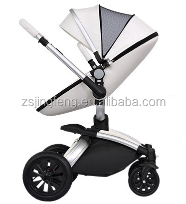 EN1888 CE Approved Baby Stroller New Design Pu Leather Egg Shape 360 Rotation Stroller For Baby