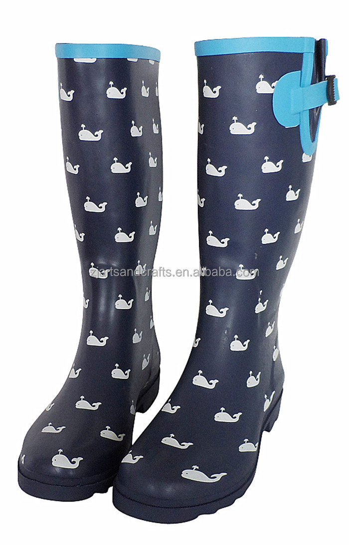 Wholesale Whale Design Rubber Rain Boots With Buckle - Buy Rain ...