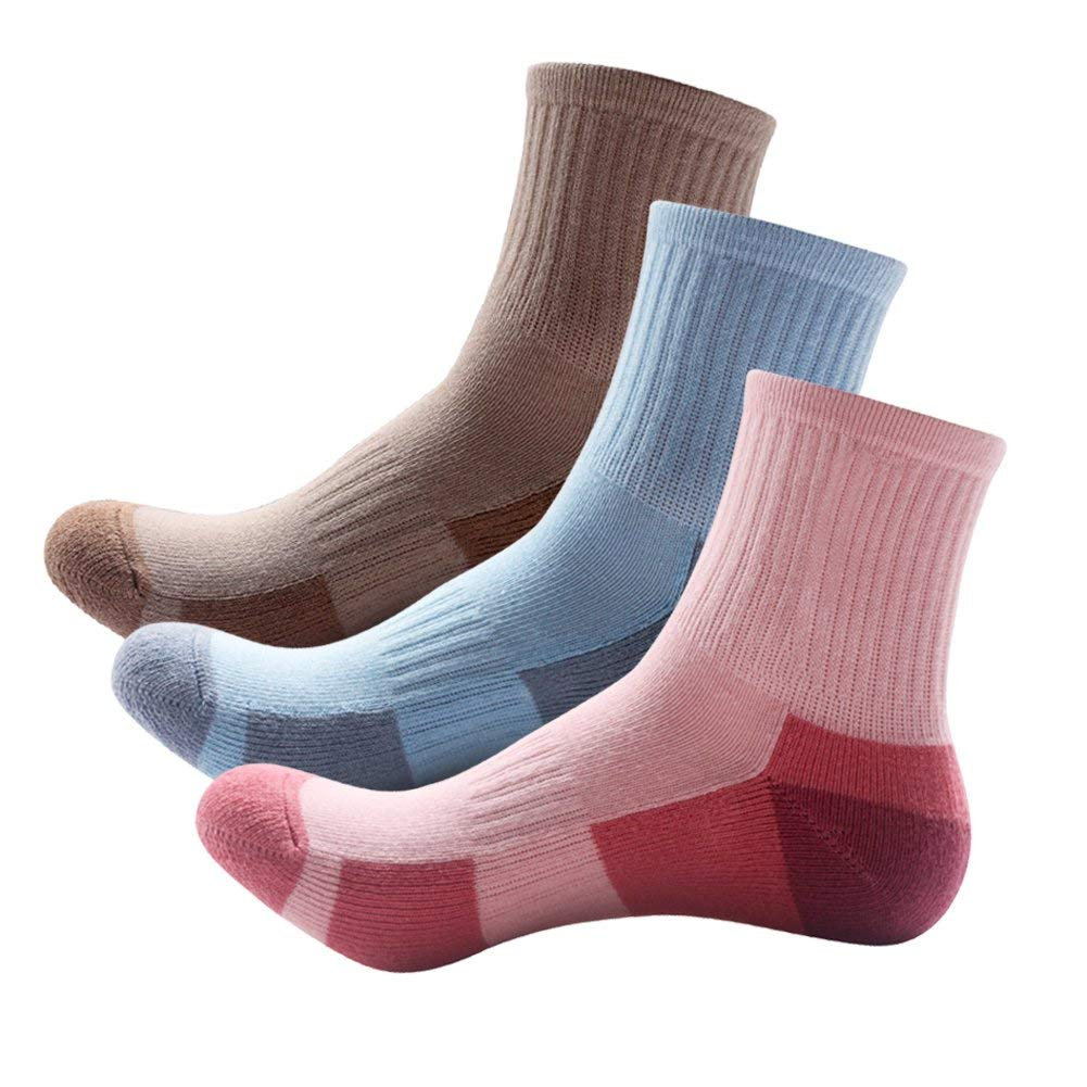 a385ce8c1a5ec Get Quotations · Camping Walking Socks Women Cushioned Athletic Outdoor  Running Skiing 3 Pairs